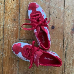 REEBOK RED SUEDE with HEART detail FASHION SNEAKER